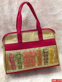 Raw Silk Handbag(CSIHB1)