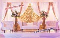 Designer Leather Tufted Furniture for Wedding
