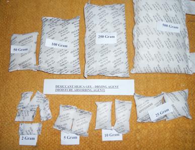 50 gm Silica Gel Bags