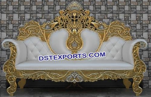 Latest Metal Carved Wedding Sofa