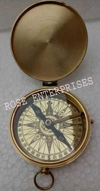 Nautical Marine Brass Case Compass