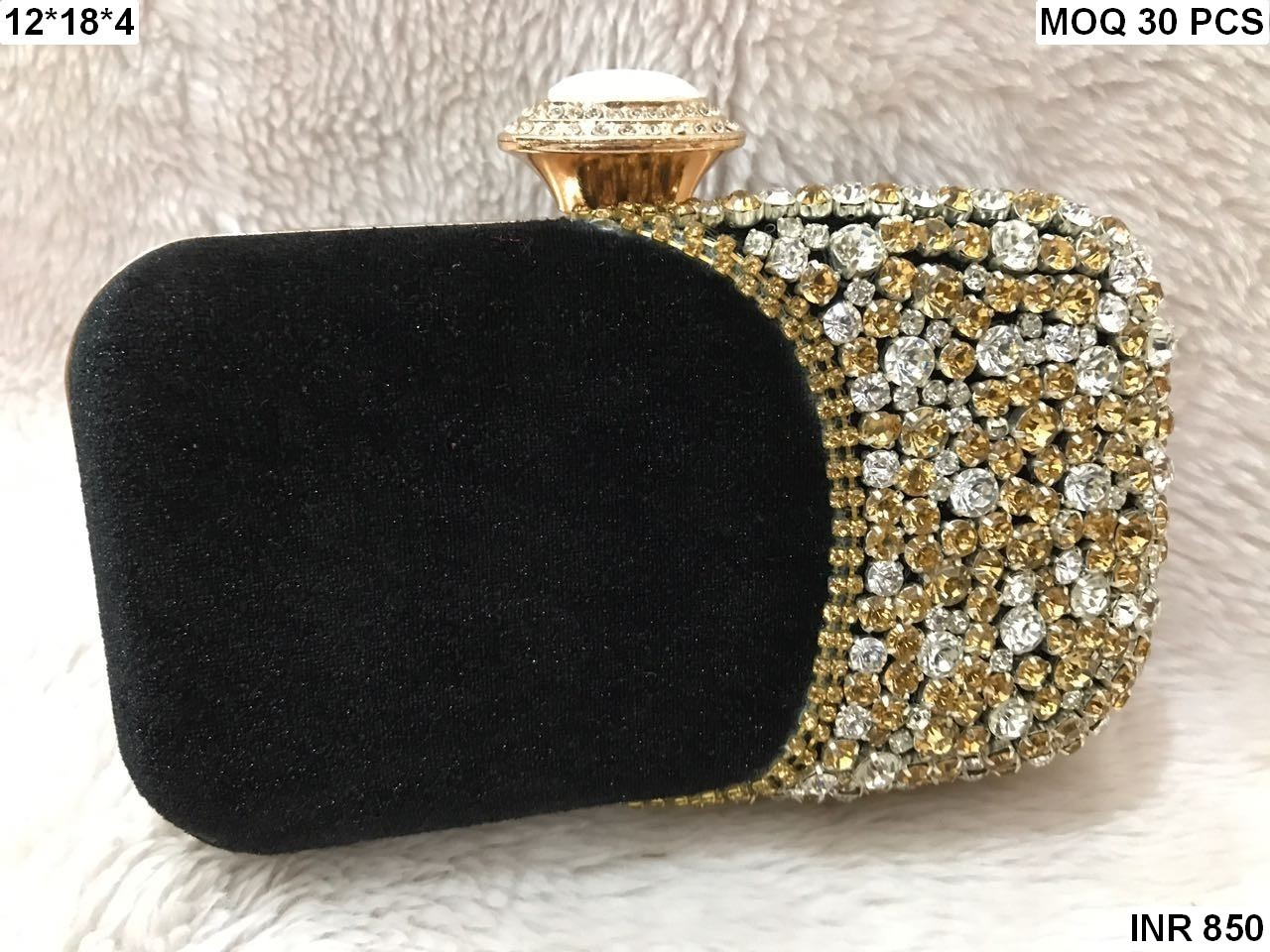 Evening Velvet Box Clutch(CSIBC2)