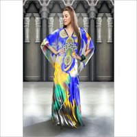 Silky Digital Printed Kaftan