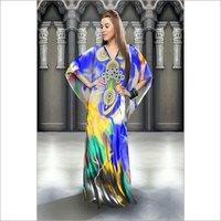 Silky Printed Kaftan