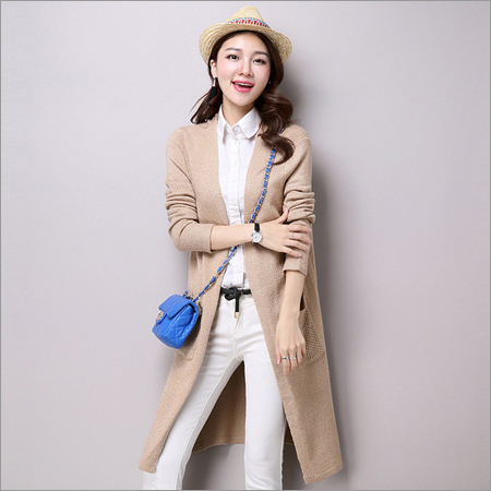 Women Long Woolen Shrugs
