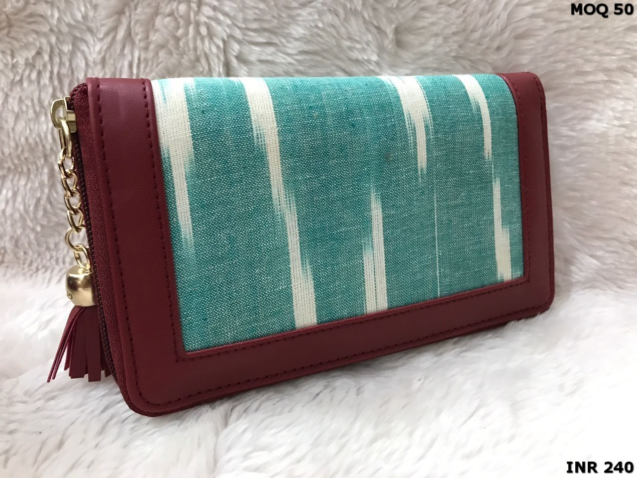 Ikat clutch bag