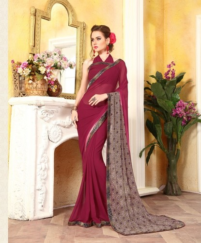 Designer Weight Less Printed Saree