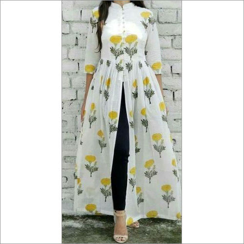 Long Cotton Print Dress