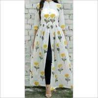 Long Cotton Print Dress