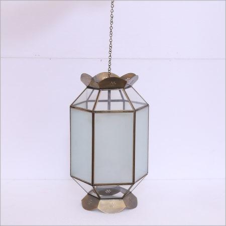 Iron and Glass Hanging Lanterns