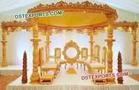 Latest Wooden Carved Wedding Mandap