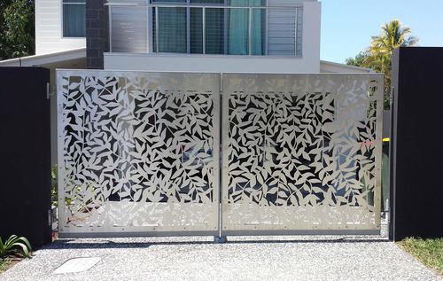 Stainless Steel Laser Cut Design Gates