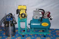Single Bucket Milking Machine with Engine