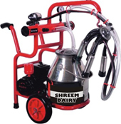 Trolley Milking Machine Single bucket