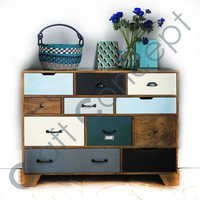 MULTICOLOR VINTAGE MANGO DRAWER CHEST