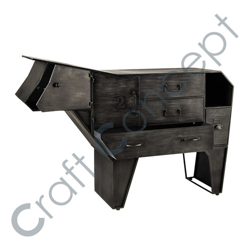 METAL COW DRAWER CHEST