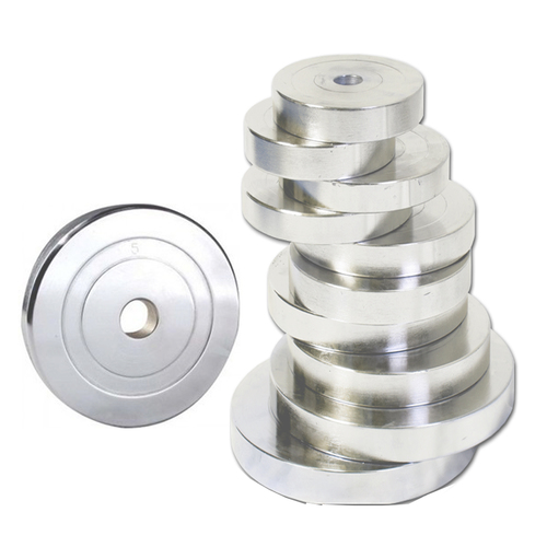 CHROME STEEL WEIGHT PLATES FOR GYM