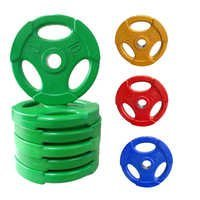 RUBBER COATED WEIGHT PLATES FOR GYM COLOR MAY VARY