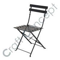 BLACK FOLDING METAL CHAIR