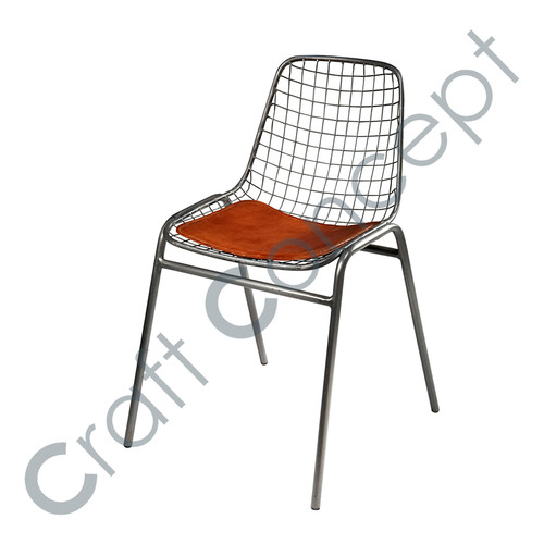 COW LEATHER & METAL CHAIR