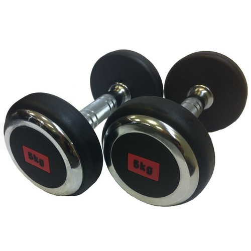 HAWKISH RUBBER COATED SOLID DUMBBELL FOR GTM