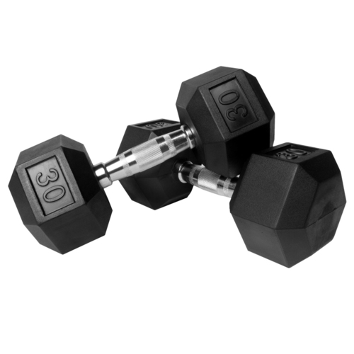 HAWKISH RUBBER COATED HEXAGON DUMBBELL FOR GYM