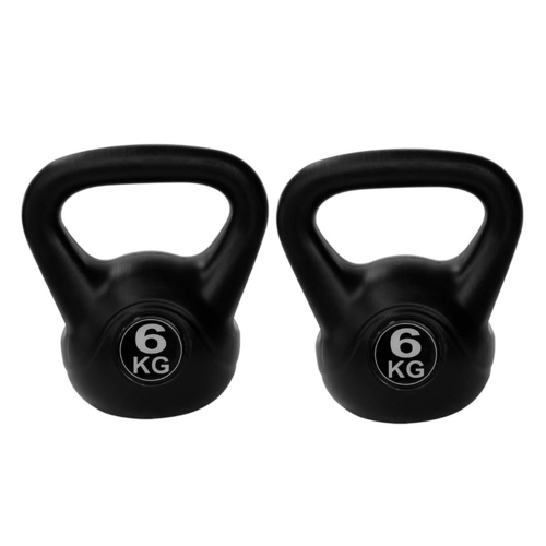 HAWKISH PVC KETTLE BELL DUMBBELL COLOR IS BLACK FOR FITNESS EXERCISE