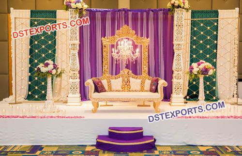 Muslim Carved Sofa Set For Wedding