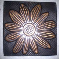 Copper Tiles with sunflower Design