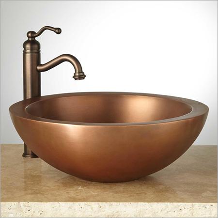 Burgan Double-Wall 16 Copper Vessel Sink