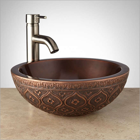 Nilofar Double-Wall 16 Copper Vessel Sink