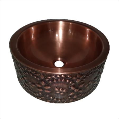 Wall-Double Bowl Copper Vessel Sink