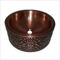 Wall-Double Bowl Copper Vessel Sink