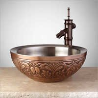 AMARYLLIS DOUBLE-WALL 16 COPPER VESSEL SINK