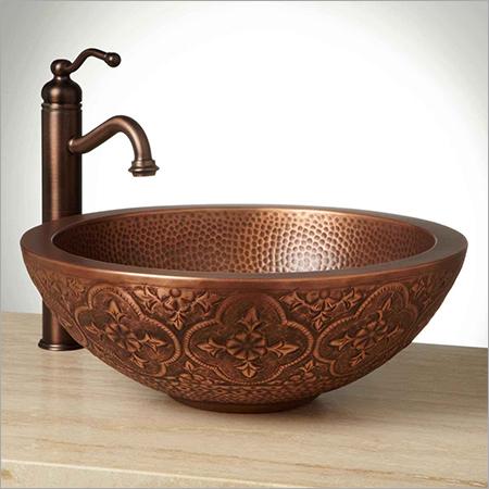 Bellis Double-Well Copper Vessel Sink