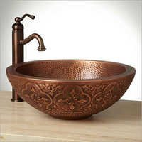 Bellis Double-Well Copper Vessel Sink
