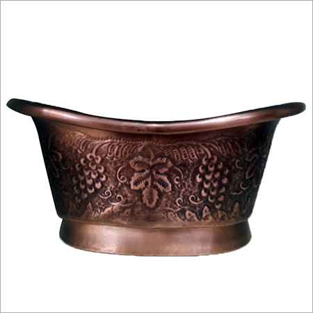 Double Wall Copper Vessel Sink