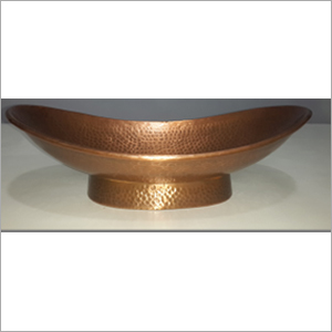 Boat Shape Copper Bathroom Sink With Stand