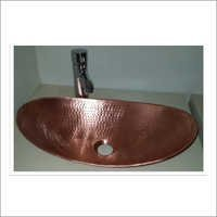 Boat Shape Copper Bathroom Sink