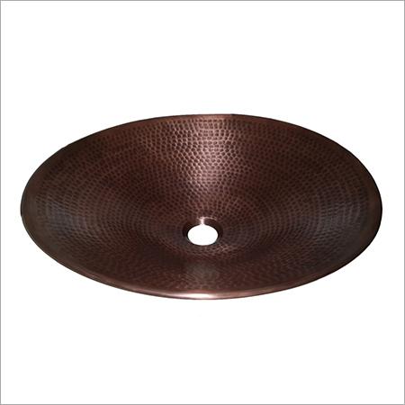 Oval Shape Copper Sink