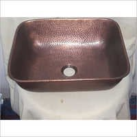 Rectangular Copper Sink Hammered