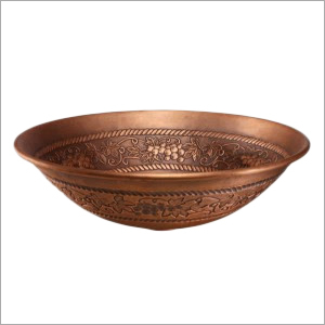 Round Embossed Copper Sink