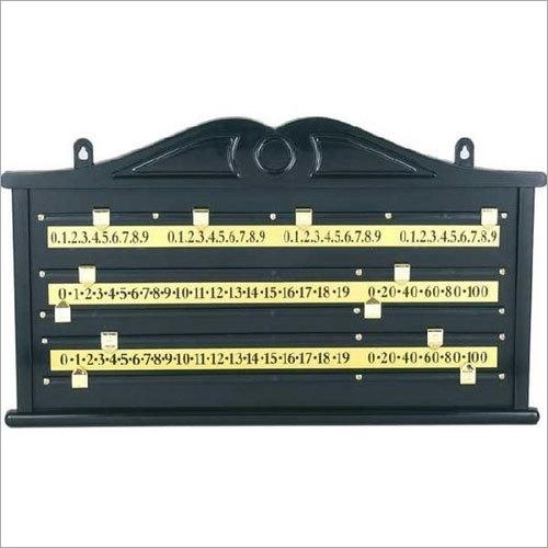 Billiard Table Scoreboard