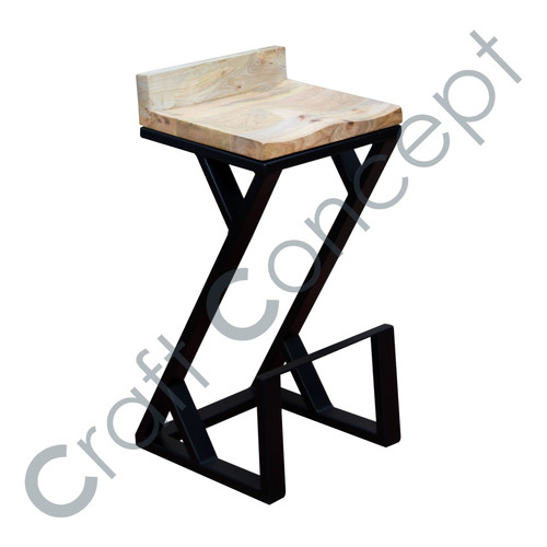 BLACK METAL Z BAR STOOL