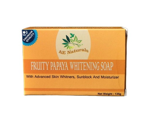 AE Naturals Premium Papaya Skin Whitening Soap With Sunblock 135g