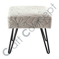 METAL & FABRIC STOOL