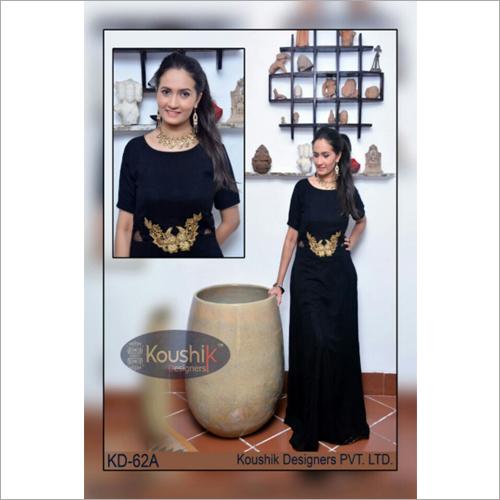 Black Plain Gown