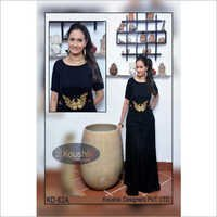 Black Plain Gown
