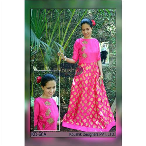 Printed Floor Length Gown