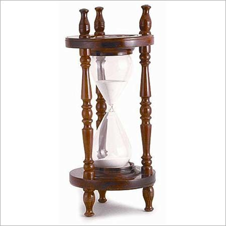 Sand Timer With Wood & Glass
